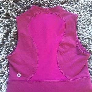 Lululemon tee shirt top purple sleeveless sz 4 XS